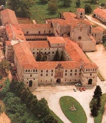Vista aérea del monasterio de San Pedro de Cardeña