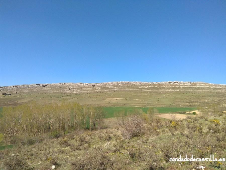 Vista desde Ubierna del alto donde se encuentra el castro de La Polera