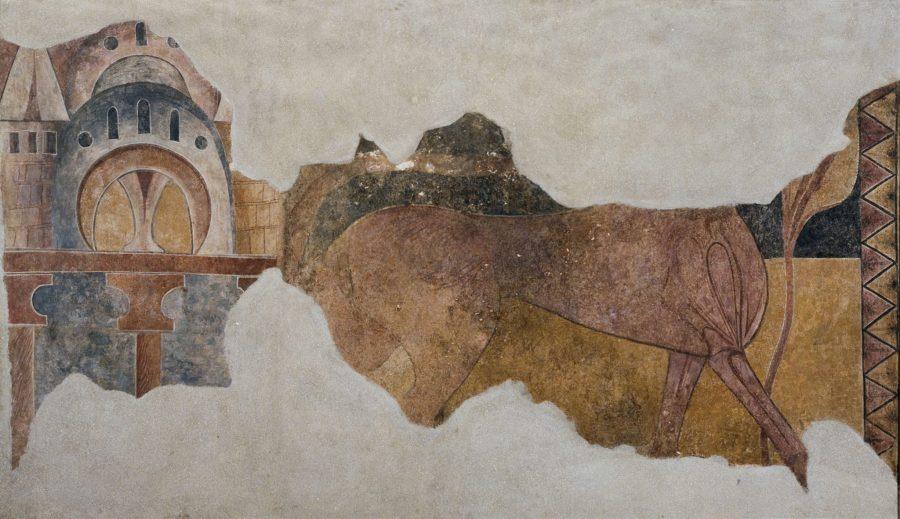 Pardus y arquitectura de San Pedro de Arlanza. Galería de arte románico del MNAC de Barcelona