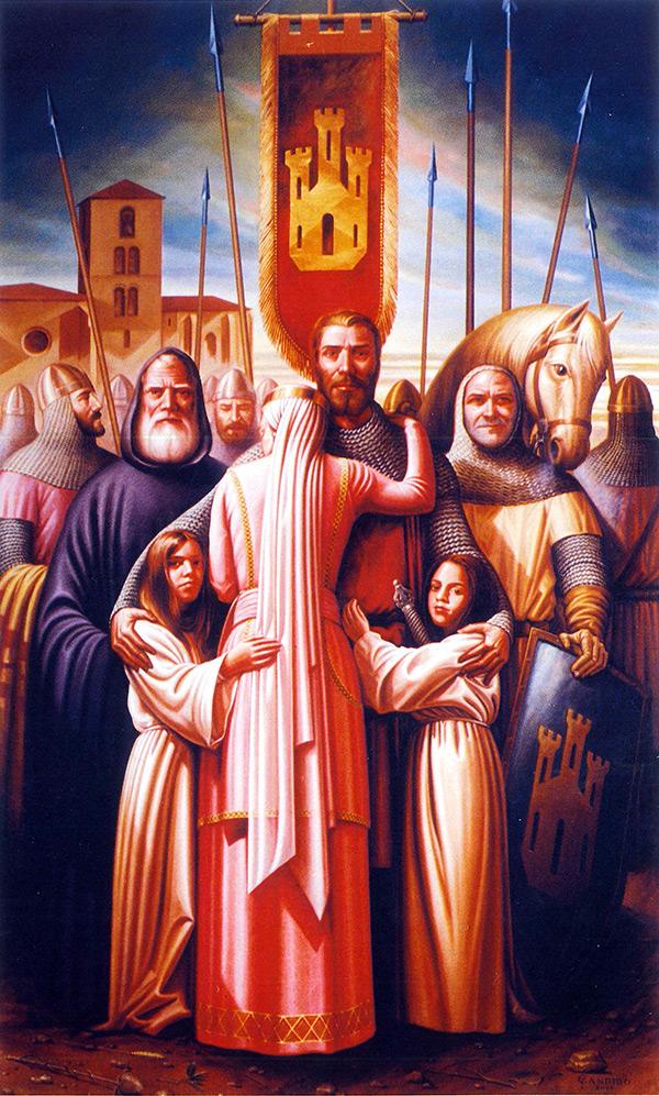 La Despedida del Cid en San Pedro Cardeña de Cándido Pérez Palma - Monasterio de San Pedro de Cardeña