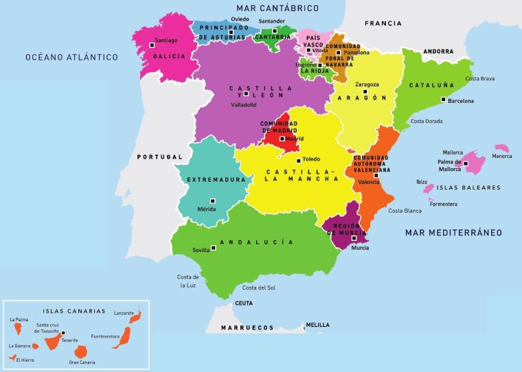 Comunidades autónoma de España