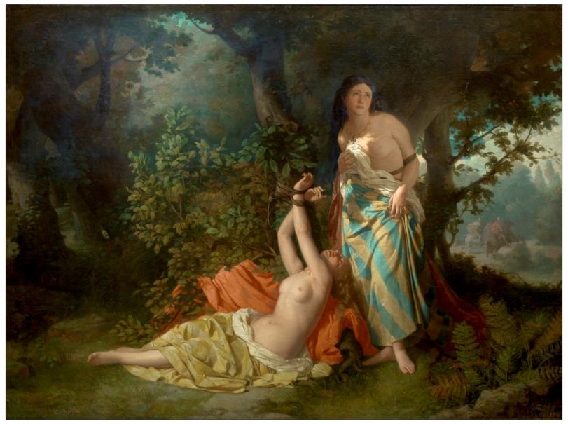 Las hijas del Cid, del romance XLIV del Tesoro de Romanceros, de Dióscoro Teófilo Puebla y Tolín, (1871). Museo del Prado.
