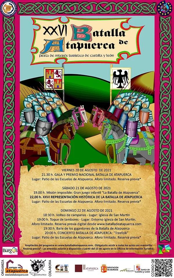 Cartel de la XXVIª Representación de la Batalla de Atapuerca