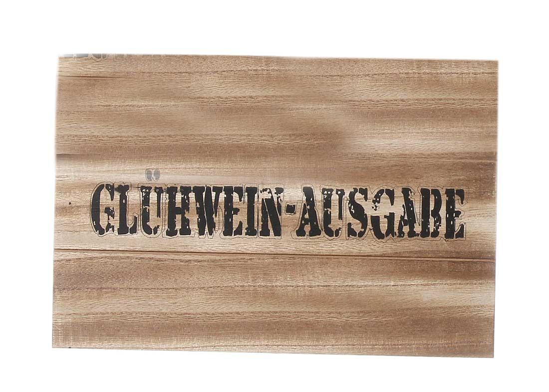 Holzschild Gluhwein Ausgabe Shabby Chic Wandbild Turschild