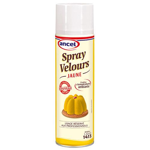 spray velours jaune condifa