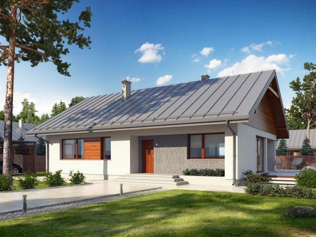 Projekt domu Endo drewniany BSE1076