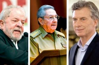 Luiz Inácio Lula da Silva, Raúl Castro und Mauricio Macri: In Brasilien, Kuba und Argentinien stehen in diesem Jahr Wahlen an.
