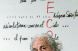 Der chilenische Dichter Nicanor Parra ist im Alter von 103 Jahren gestorben. Parra begründete den Stil der Antipoesie. Foto: Mario Ruiz/EFE/dpa