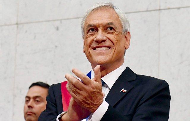 Sebastián Piñera bei seiner Vereidigung als neuer Präsident von Chile am vergangenen Sonntag im Kongress von Valparaíso