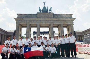 Deutsch-chilenische Jugendfeuerwehren in Berlin