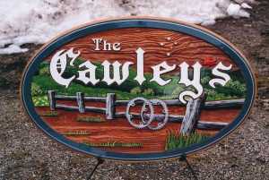sandblasted signs cawleys 3