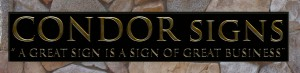 This our Condor Signs Vernon BC.gold leaf lettered sign
