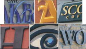 Formed Plastic and Metal Letters