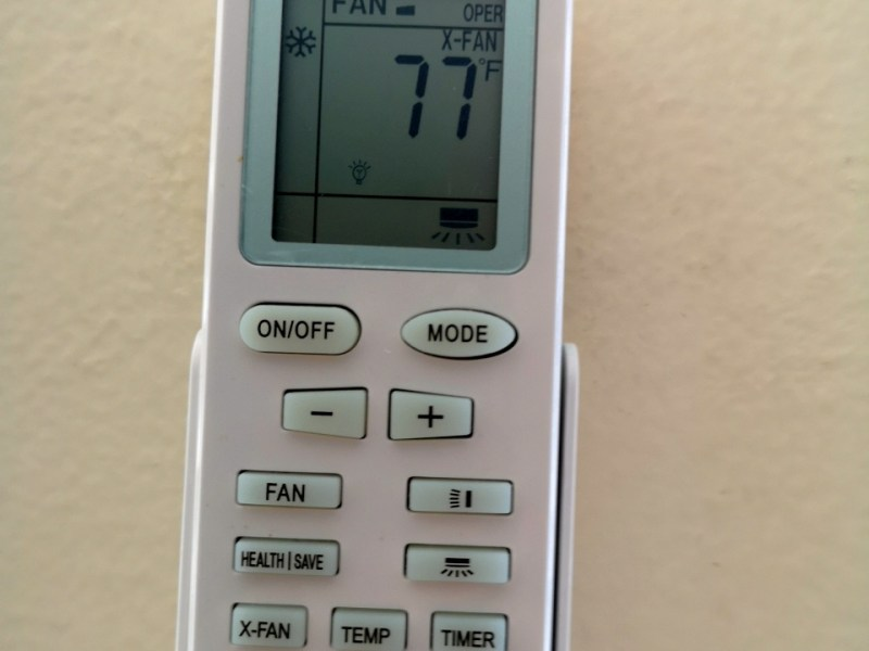 HVAC remote control