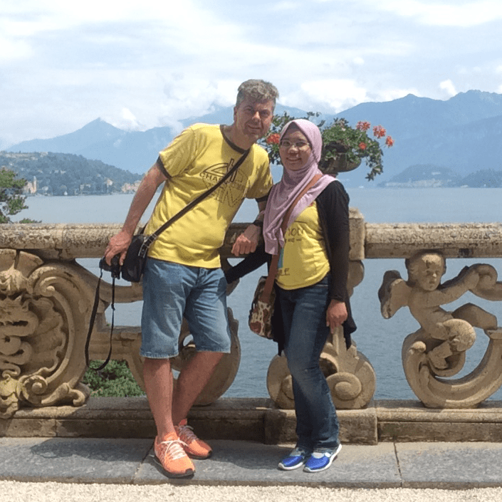 Deny Ewald were at lake como