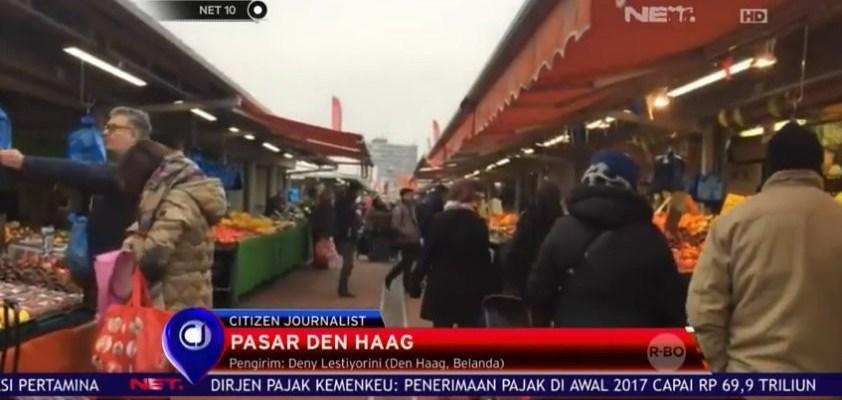 Citizen Journalist NET TV liputan di pasar Den Haag