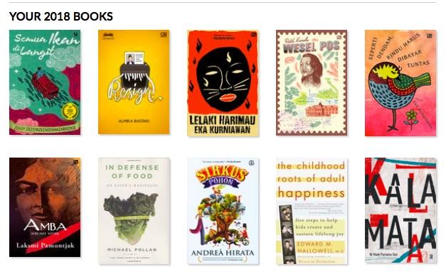 Buku-buku Fiksi dan Non Fiksi tahun 2018