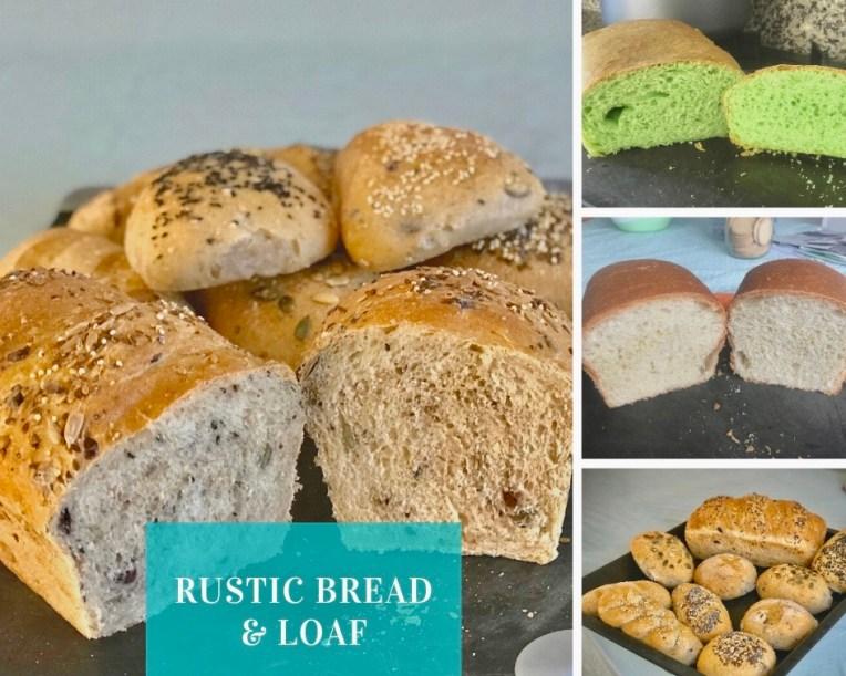 Variasi rustic bread dan roti tawar