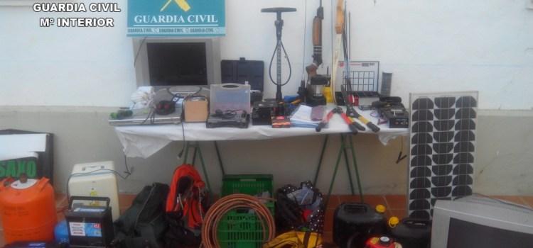 La Guardia Civil esclarece diversos robos cometidos en casas de campo ubicadas en distintas localidades de la Costera