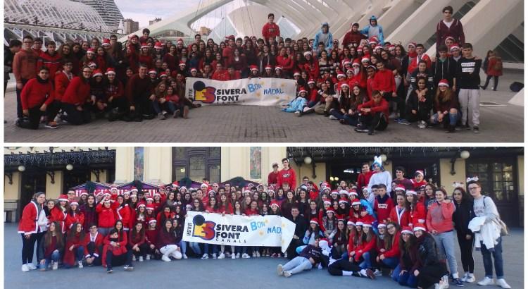 Felicitació nadalenca dels alumnes del IES Sivera Font de Canals