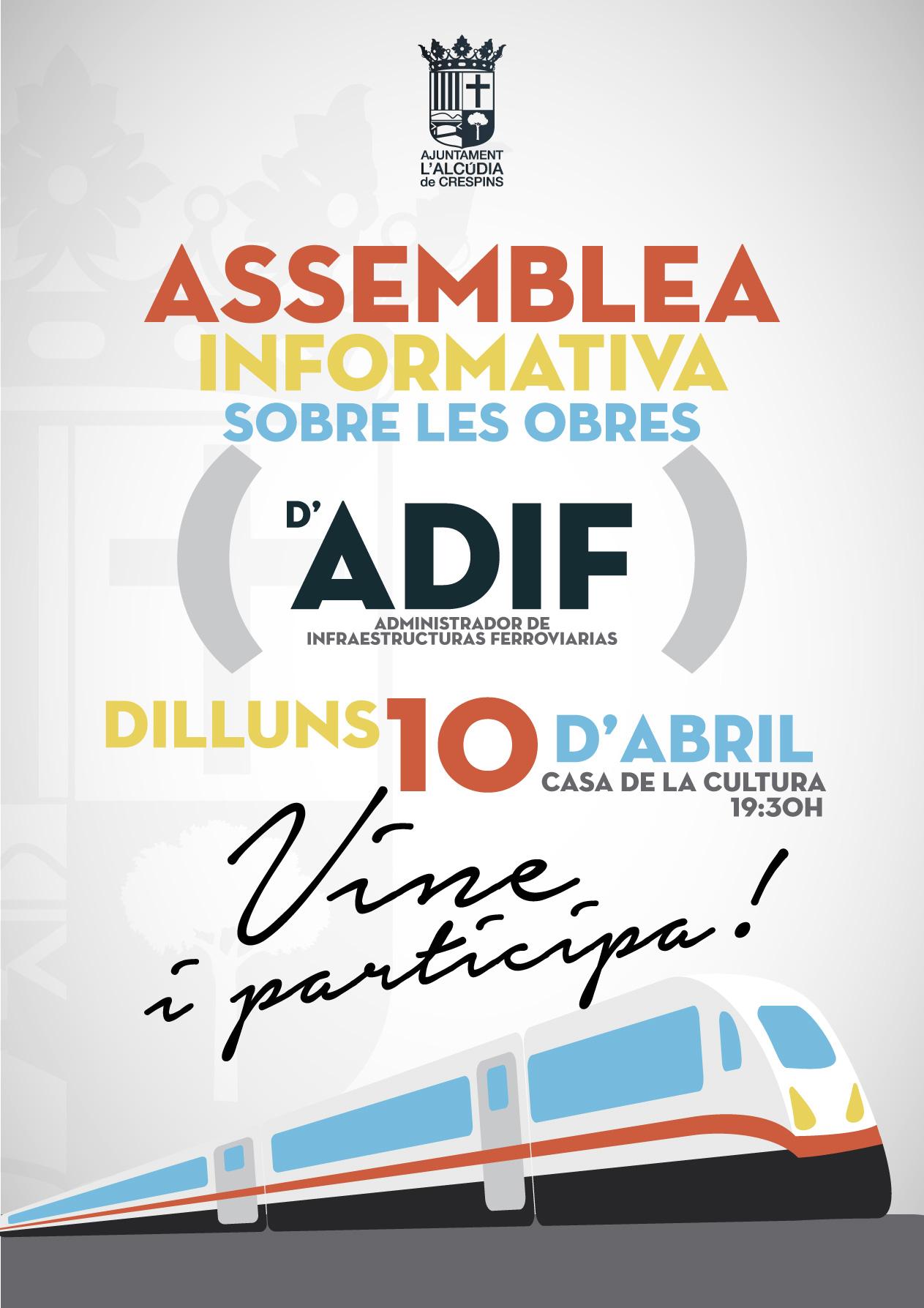 Assemblea Informativa sobre les obres d'Adif l'Alcúdia de Crespins