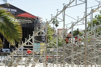CGT lamenta la mort d'un treballador en el muntatge de les grades dels concerts de Vivers a València
