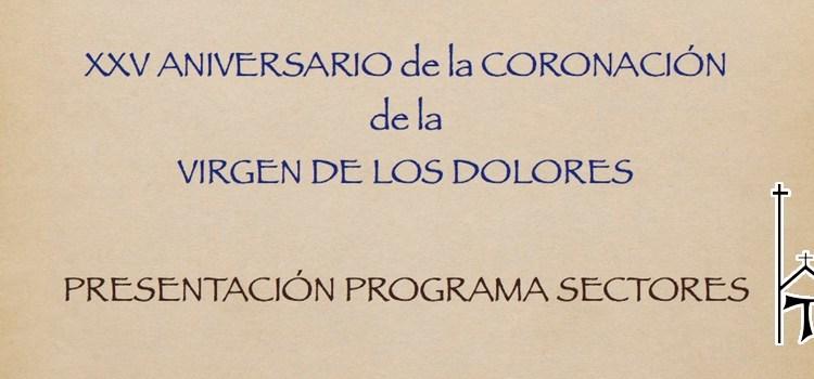 Presentació del XXV Aniversari de la coronació de la Mare de Déu dels Dolors a Canals