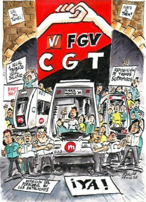 CGT explica las causas del conflicto en Ferrocarrils de la Generalitat Valenciana