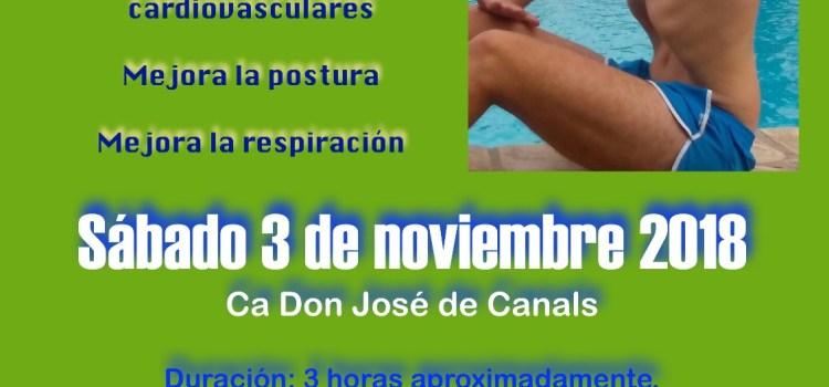El Club de Natación La Costera organiza un Taller de Hipopresivos en Canals