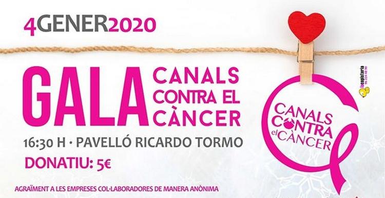 """Gala """"Canals Contra el Càncer"""" 2020 el disabte 4 de gener"""