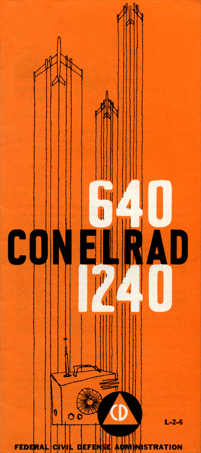 Federal Civil Defense Administration CONELRAD brochure - 1957