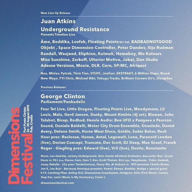 Dimensions Festival final lineup on Cone Magazine