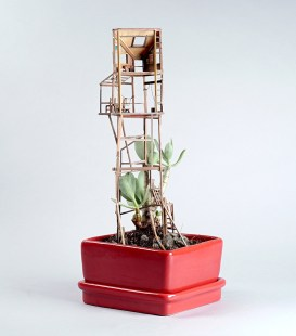 Houseplant treehouse by Jedediah Corwyn Voltz on Cone Magazine