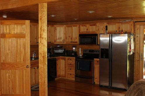 Log house kitchen