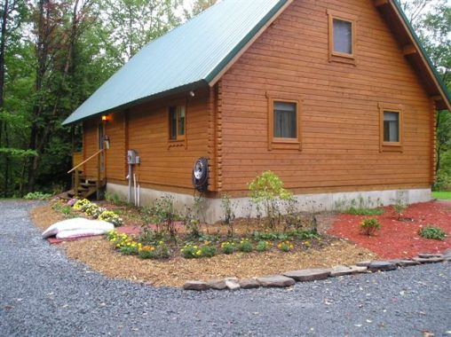 log wall exterior stain