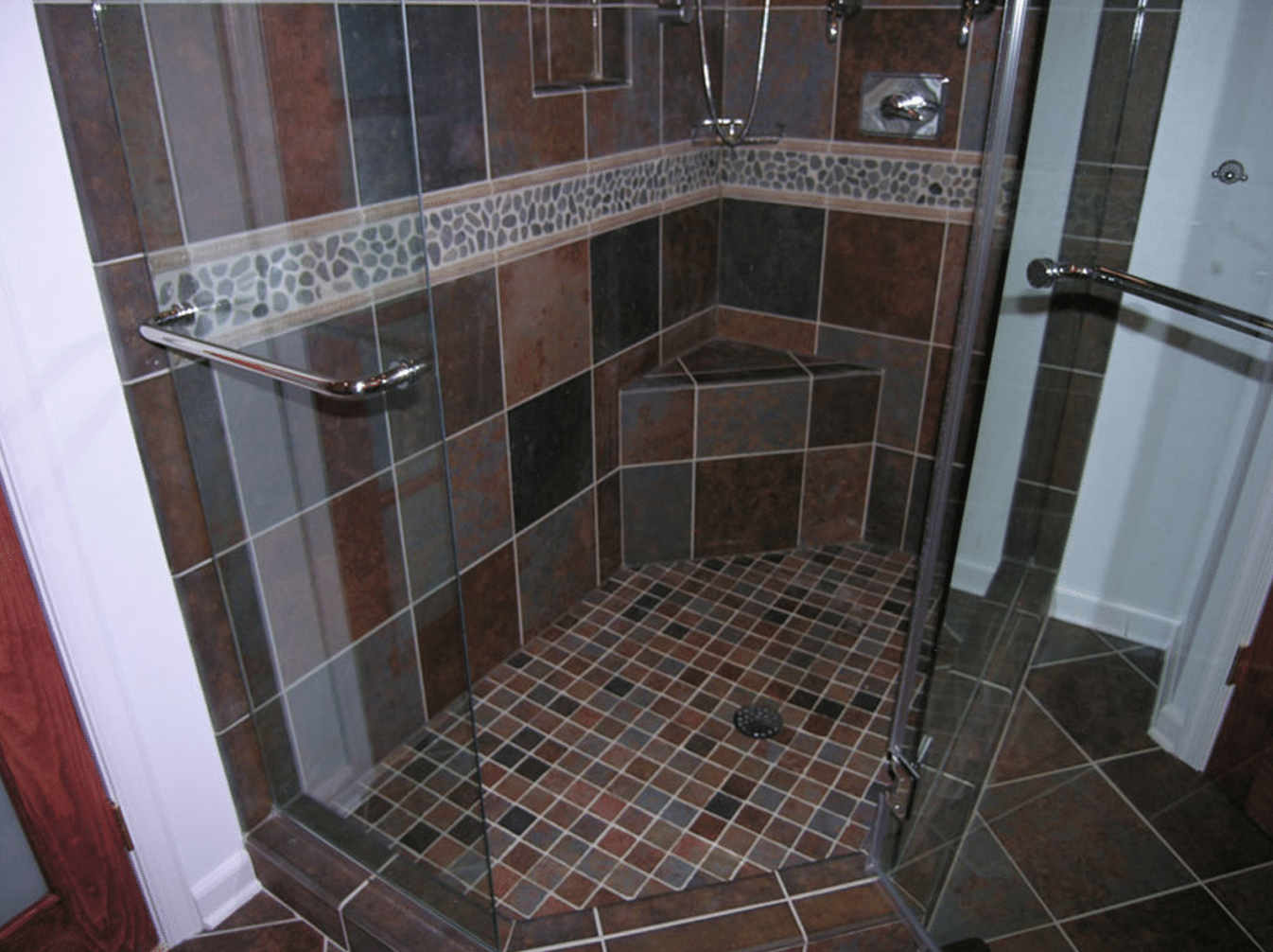 install shower accent tiles