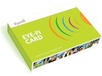 Eye-Fi packaging. Wireless memory card for your camera