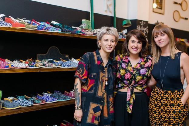Pamela Magpali Babi Mattivy e Laura Madalosso, as sócias da marca