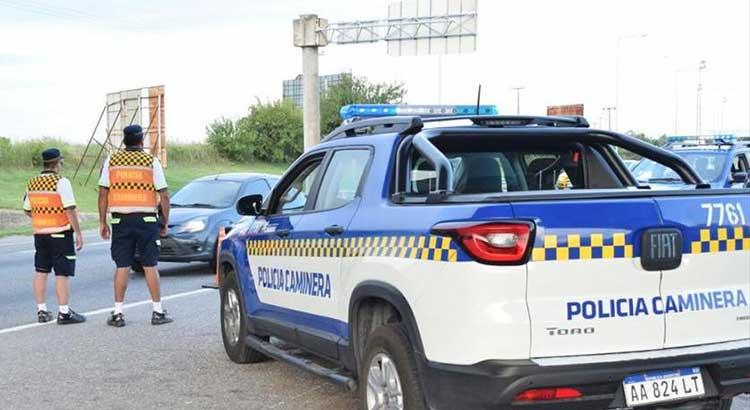 Policía caminera en la rutas de Córdoba
