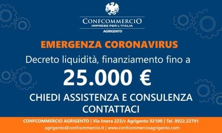 Finanziamenti fino a 25.000 euro – lettera m art. 13 DL Liquidità 8 aprile 2020