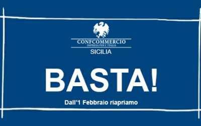 Dall'1 febbraio riapriamo: richieste di Confcommercio Sicilia