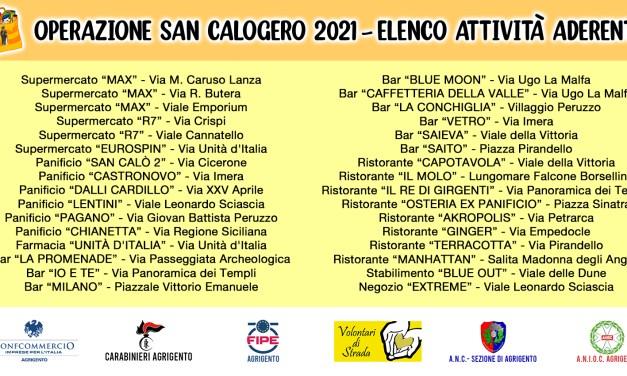 Operazione San Calogero 2021: solidarietà dalle imprese agrigentine