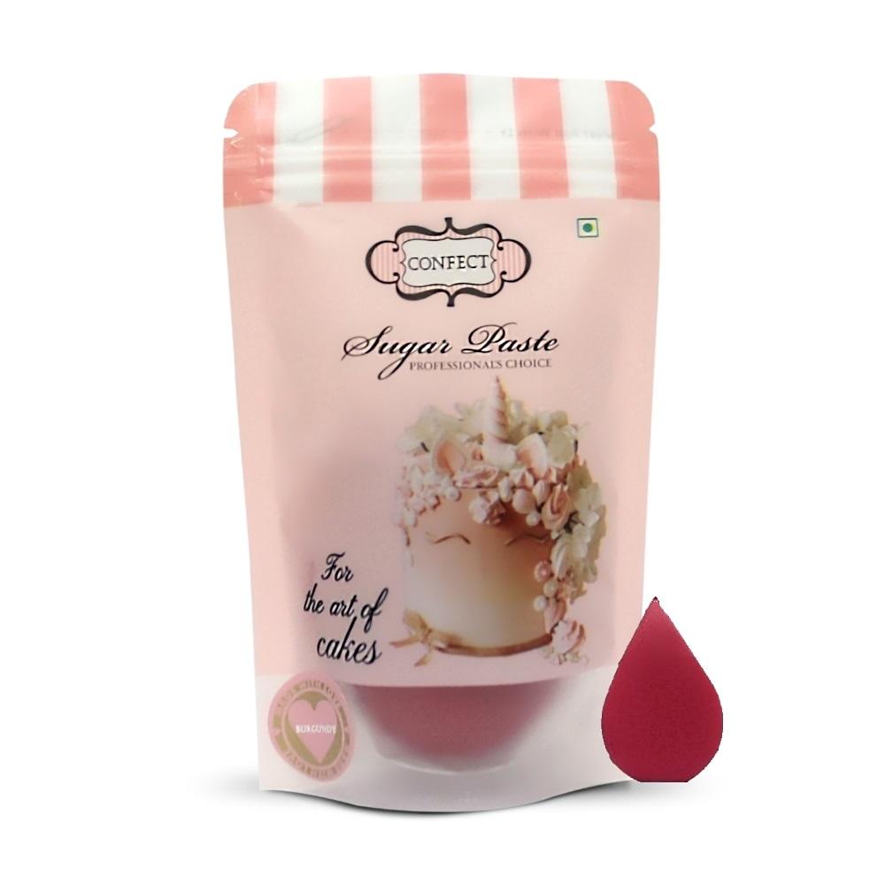 Burgundy Sugar Paste 250 Gms (1)