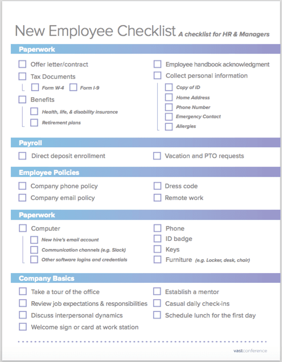 Give your newest employee the strongest start possible using our onboarding checklist and templates. How To Onboard A New Employee