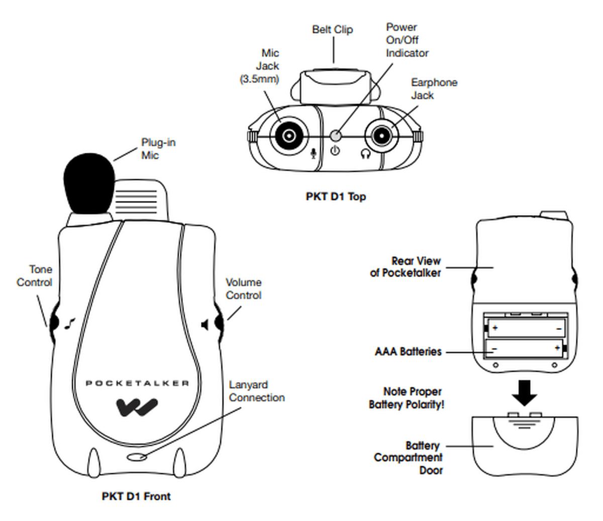 Williams Sound Basic Comm Kit Pocketalker Kit With Case