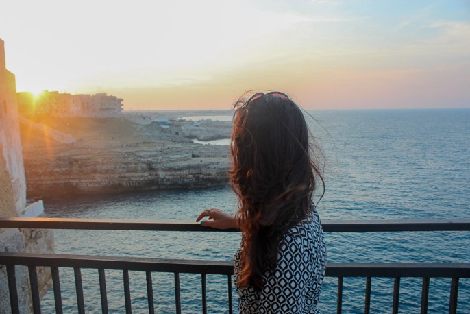 Sunset at Polignano a Mare