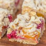 Peach & Raspberry Crumb Bars