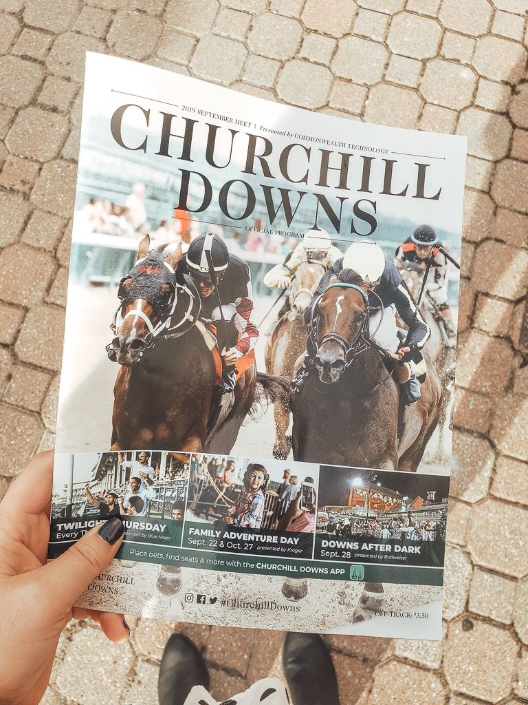 Program for Churchill downs