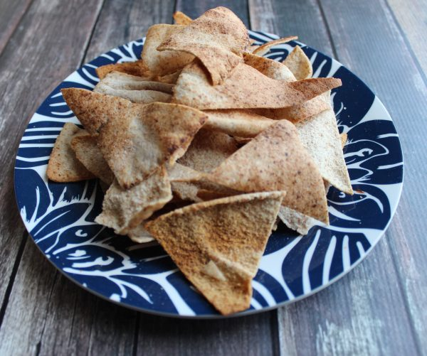 homemade baked pita chips are a easy, healthy snack that you make anytime you need a salty crunch!