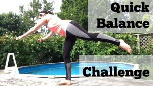 Friday Fitness: Quick Balance Challenge